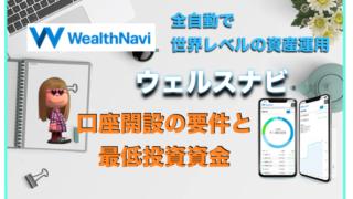 ウェルスナビ(WealthNavi)の口座開設(登録)ができない?最低投資金額は何円から?